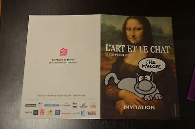 Invitation Expo L'Art et le Chat 2016 Paris - Le Chat Geluck