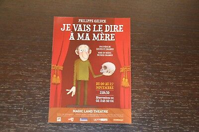 "Carte Philippe Geluck de son spectacle ""Je vais le dire à ma mère""  NO Le Chat"