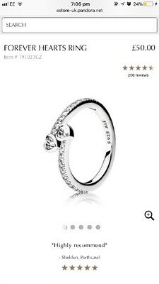 Pandora Forever Hearts Ring Size 54 - Valentines ❤️❤️
