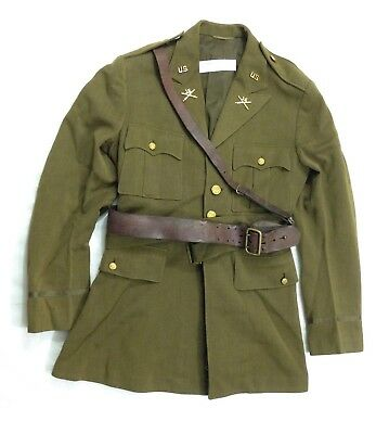 Pre WWII 1938 Army Officers Military Tunic Jacket with Sam Browne Belt (A1)