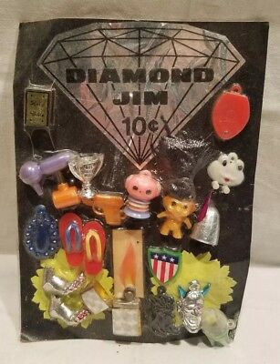 Vintage VENDING MACHINE display card with Robby the Robot & Lighter Charms