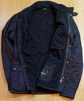 Barbour International Men's Ariel Polarquilt Jacket XL Navy