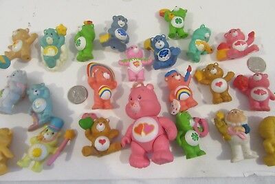 """Lot 22 Vintage 1980's Poly CARE BEARS Action Type Figures Toys Poly 2"""" t28"""