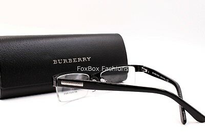 2d1bf8e85391 BURBERRY B 1156 1001 Men s Eyeglasses Optical Frames Glasses Shiny Black ~  52mm