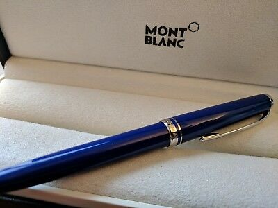 Montblanc Cruise Ballpoint Pen in Blue - Good Condition with Box