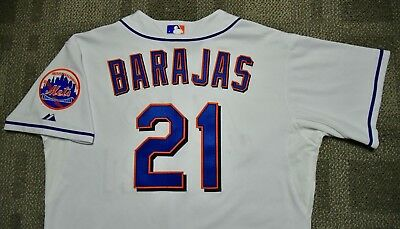 New York Mets ROD BARJAS Game Used Worn Jersey-LOA (Diamondbacks Rangers Dodgers