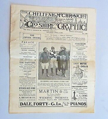 CHELTENHAM CHRONICLE & GLO'SHIRE GRAPHIC: 1935 Newent daffodils. Point to point.
