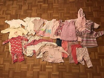 Large Baby Girl Clothes Bundle 6-9months (24 Items)