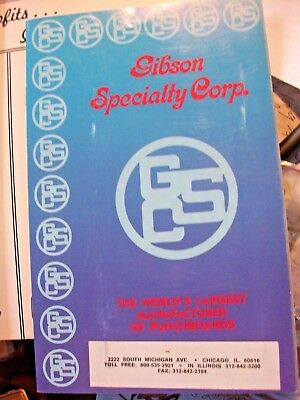 """Gibson Specialty Punchboard Catalog, Color, 30 Pages, 5 1/2"""" X 8 1/2"""" Trade Stim"""