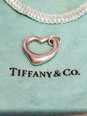 Tiffany & Co Sterling Silver Elsa Peretti Open Heart Pendant only