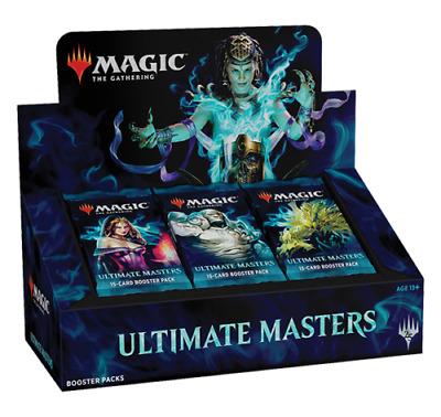 Magic the Gathering Ultimate Masters Factory Sealed Booster Case -4 Box Toppers