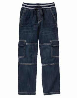 NWT Gymboree Boys Pull on Cargo JEAN Ribbed Waist 4 5 6 12 Everday All Star