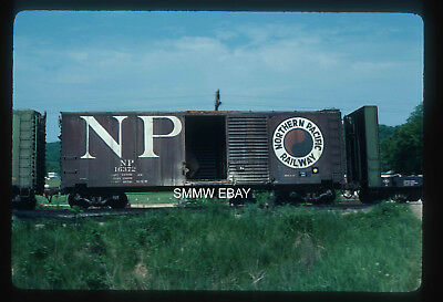 Original railroad freight boxcar slide NP Northern Pacific in 1978