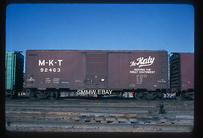 Original railroad freight boxcar slide MKT Katy 52463 in 1968