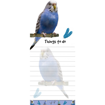 Blue Parakeet MAGNETIC GROCERY LIST PAD STICKY NOTES MAGNET Refrigerator