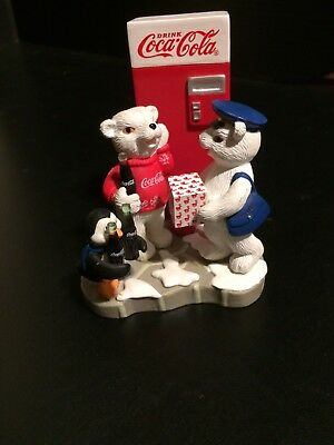Coca-Cola Lot 3 Collectibles Numbered Polar Bear Limited Editions Coke Chair WOW