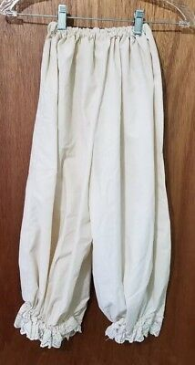 VINTAGE Children's Under Garment Pantaloons size S Small Ivory Handmade Country