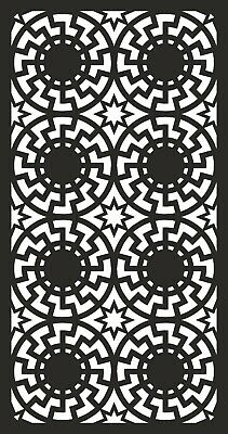 PANEL PATTERN CDR AI DXF File for CNC Laser Plasma & Water Jet Router  DOOR0050