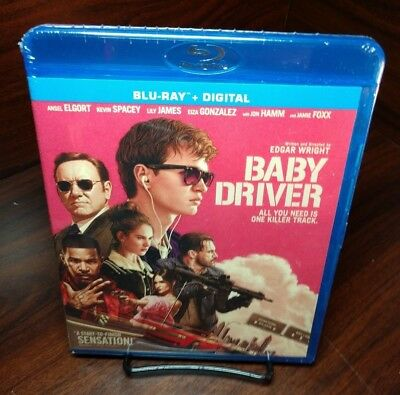 Baby Driver (Blu-ray+HD Digital Code)NEW-Free First Class Shipping with Tracking