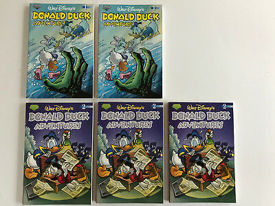 """Lot of 5 Donald Duck Adventures """"Take-Along Comic"""" Issues #1 and #2 (2003)"""