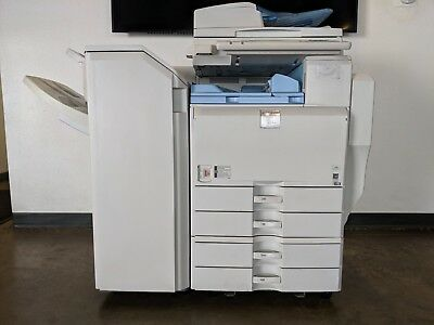 Ricoh Aficio MP 5001 B+W Multifunction Laser Copier Printer/Scanner w Finisher