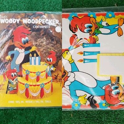 "Rare 1978 Reeds Woody Woodpecker Party Cake Centerpiece 14.4"" X 10.75"" W"
