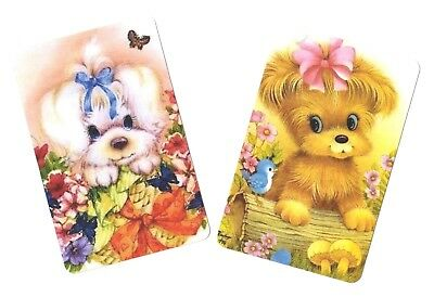 Swap Card -  Blank Back ~ Puppy Dogs  ~ 2 Cards