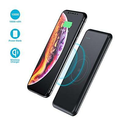 Wireless Portable Charger,10000mAh Fast Charging Power Bank QI Battery Charger P