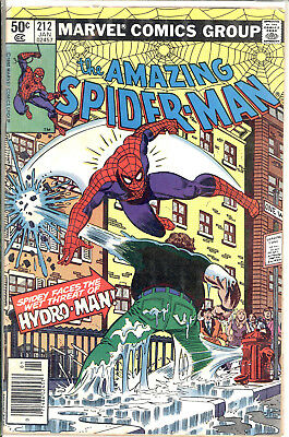 Amazing Spider Man Lot Including 212 1St Hydro-Man Newstand Copy