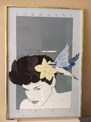 "Patrick Nagel Original Serigraph ""Lorraine"" Signed & Numbered 93/250 DS19"