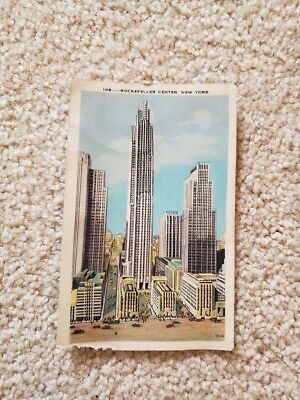 Rockefeller Center New York City Vintage 1942 Post Card