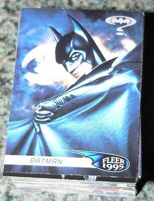 . Batman Forever Fleer 1995 120 card Complete Set (not ultra)