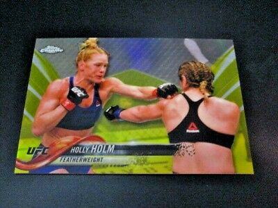 2018 Topps Ufc Chrome Holly Holm Gold Base Card 48/50