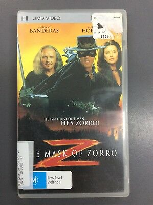 The Mask Of Zorro UMD Video Movie for PSP
