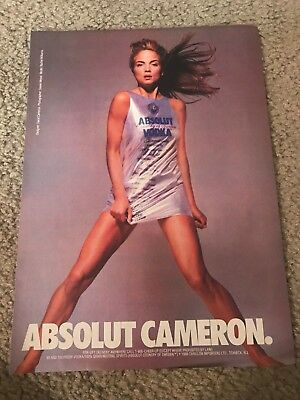 Vintage ABSOLUT Poster Print Ad MODEL RACHEL WILLIAMS DESIGNER DAVID CAMERON
