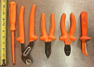 Sears 5-Piece Electrician's Insulated Plier, Screwdriver & Knife Hand Tool Set