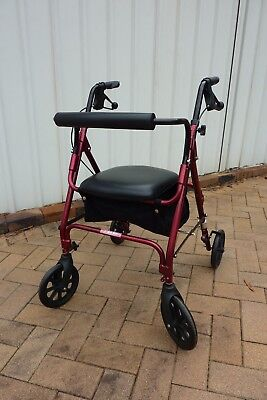 rollator, walker - colour red