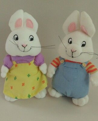 ae1b2b15cdc MAX AND RUBY Ty Beanie Babies 2010 7 inch Nickelodeon Show Rabbits ...