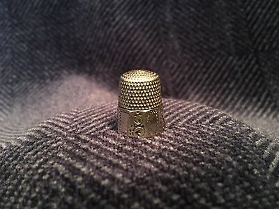 Antique Sterling Silver Thimble, Simons Bros. Size 8