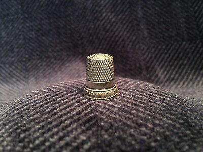 Antique Sterling Silver Thimble, Simons Bros. Size 6