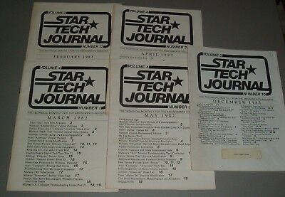 Star Tech Journal - 5 Issues covers some of 1982-83