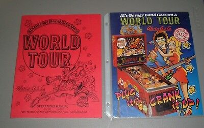 Alvin G's World Tour/Garage Band Pinball Manual & Flyer Original