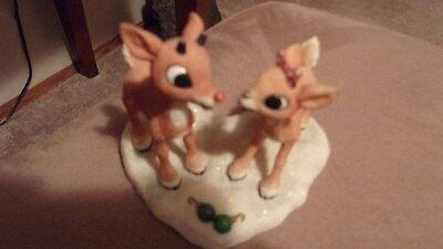 Enesco Dreams Come True Together Rudolph and Clarice Figurine
