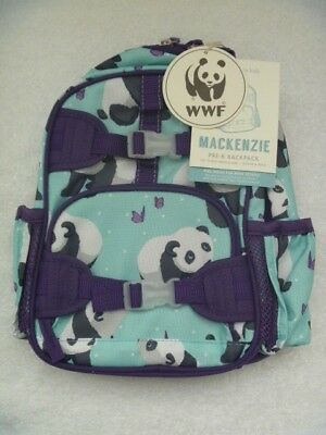 NEW Pottery Barn Kids Mackenzie MINI PRE-K Aqua Panda Backpack  NO MONO