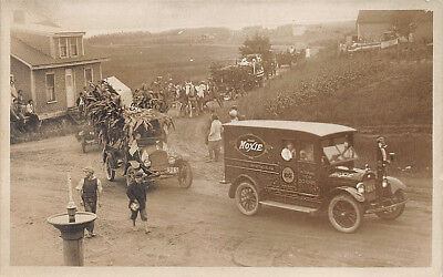 Wells Beach ME Moxie Special Truck Butler on Front Bumper Part of a Parade RPPC