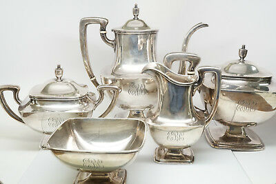 Antique Towle Sterling Silver Tea Set Pattern #7677