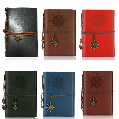 Retro Pirate Style Notebook Diary Book Spiral Ring Binder Notepad soft surface