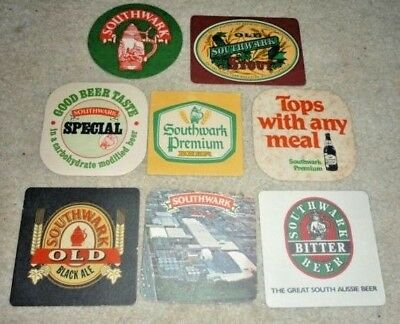 Collectable Beer coasters -  Set of 8 assorted Southwark beer coasters