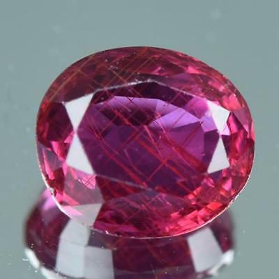 VIVID PINK RED 1.70Cts AIGS CERTIFIED 100% Natural Unheated Mozambique Ruby