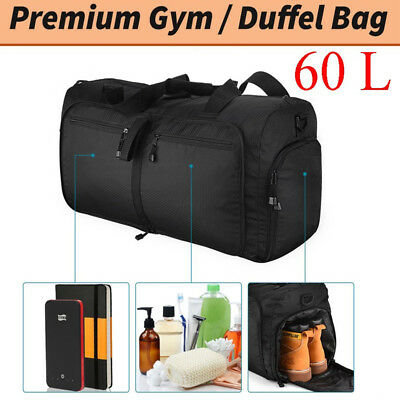 354f7cc3ebd3 60L Bag Duffel Bag Backpack Travel Overnight bag Carry Shoulder Sports  Outdoor